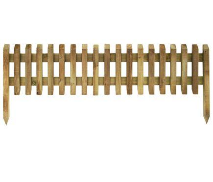Bordura de madera medidas 112 x 28 45 cm leroy merlin - Cercas para jardin ...
