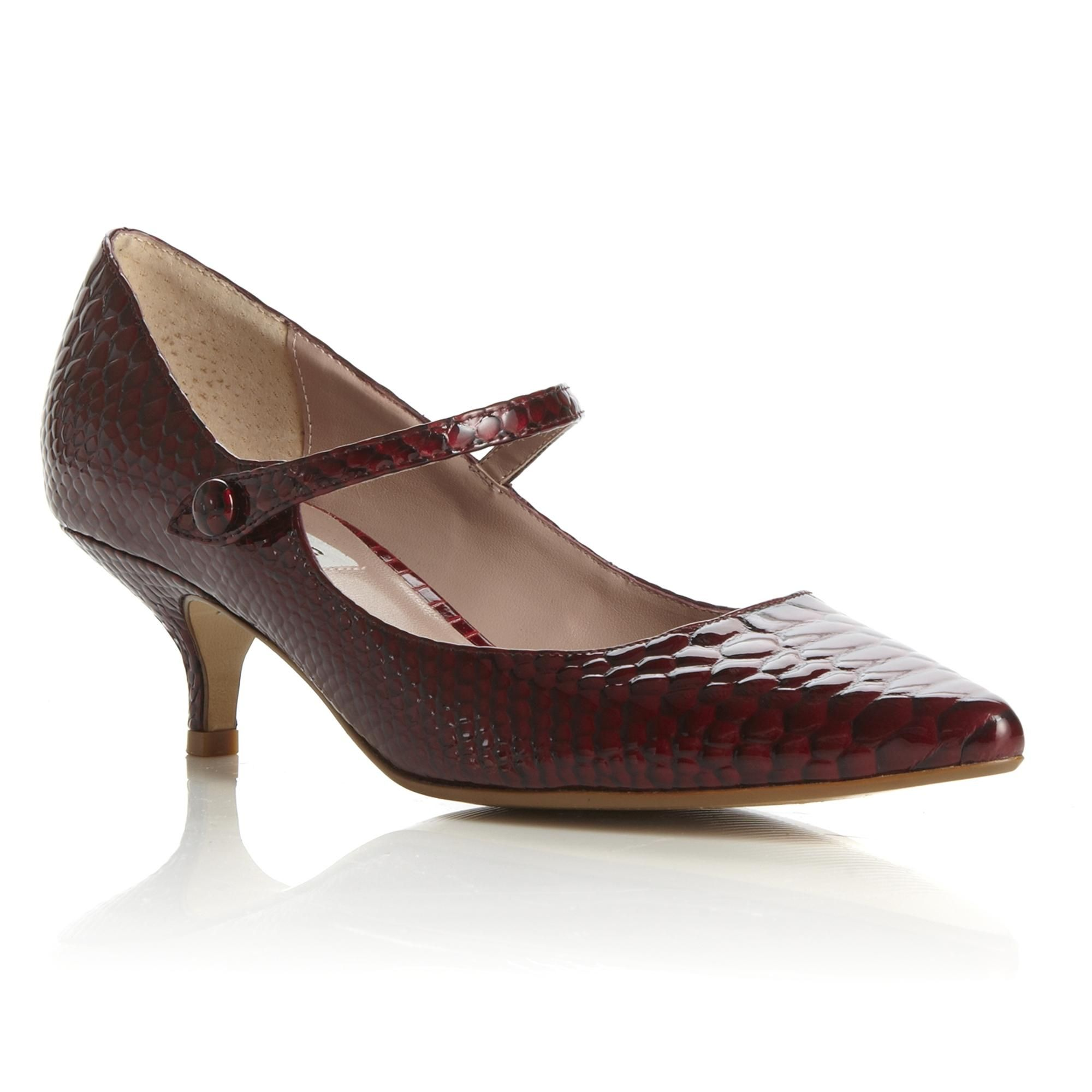 DUNE LADIES APPLEFORD - Kitten Heel Pointed Toe Mary Jane ...