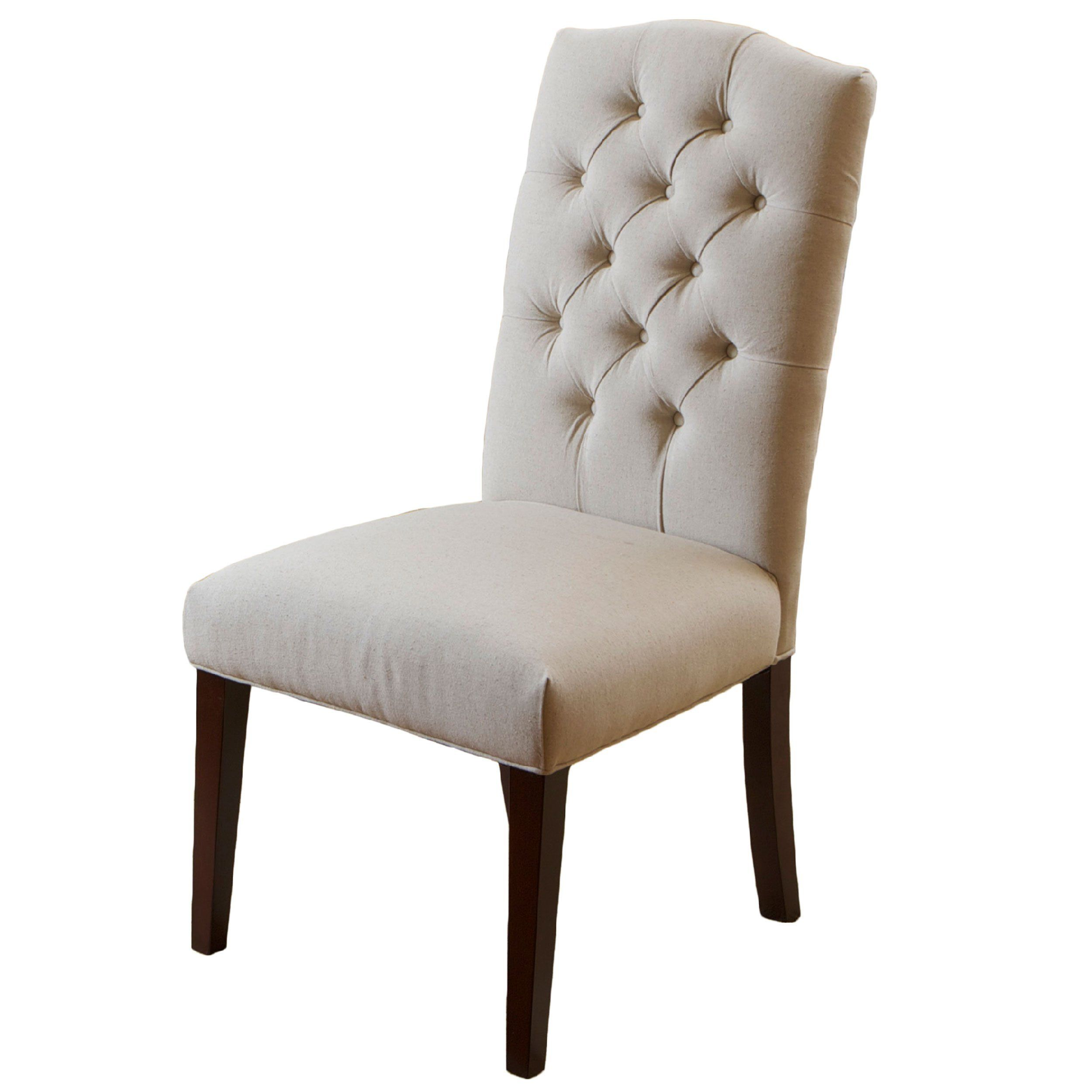 Clark Elegant Upholstered Dining Chairs W/ Button Tufted Backrest (Set Of  2) 192