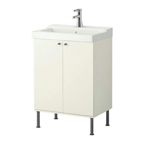 IKEA FULLEN Waschkommode in weiß Badezimmer Aufbewahrung Waschbecken Schrank
