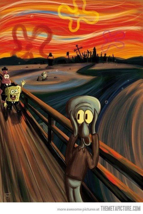 The Scream Scream Parody Spongebob Edvard Munch