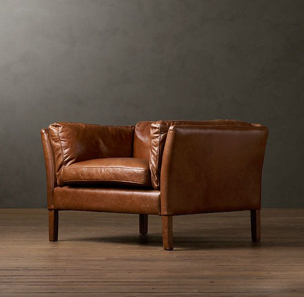 Sorensen Leather Chair Green Leather Chair Brown