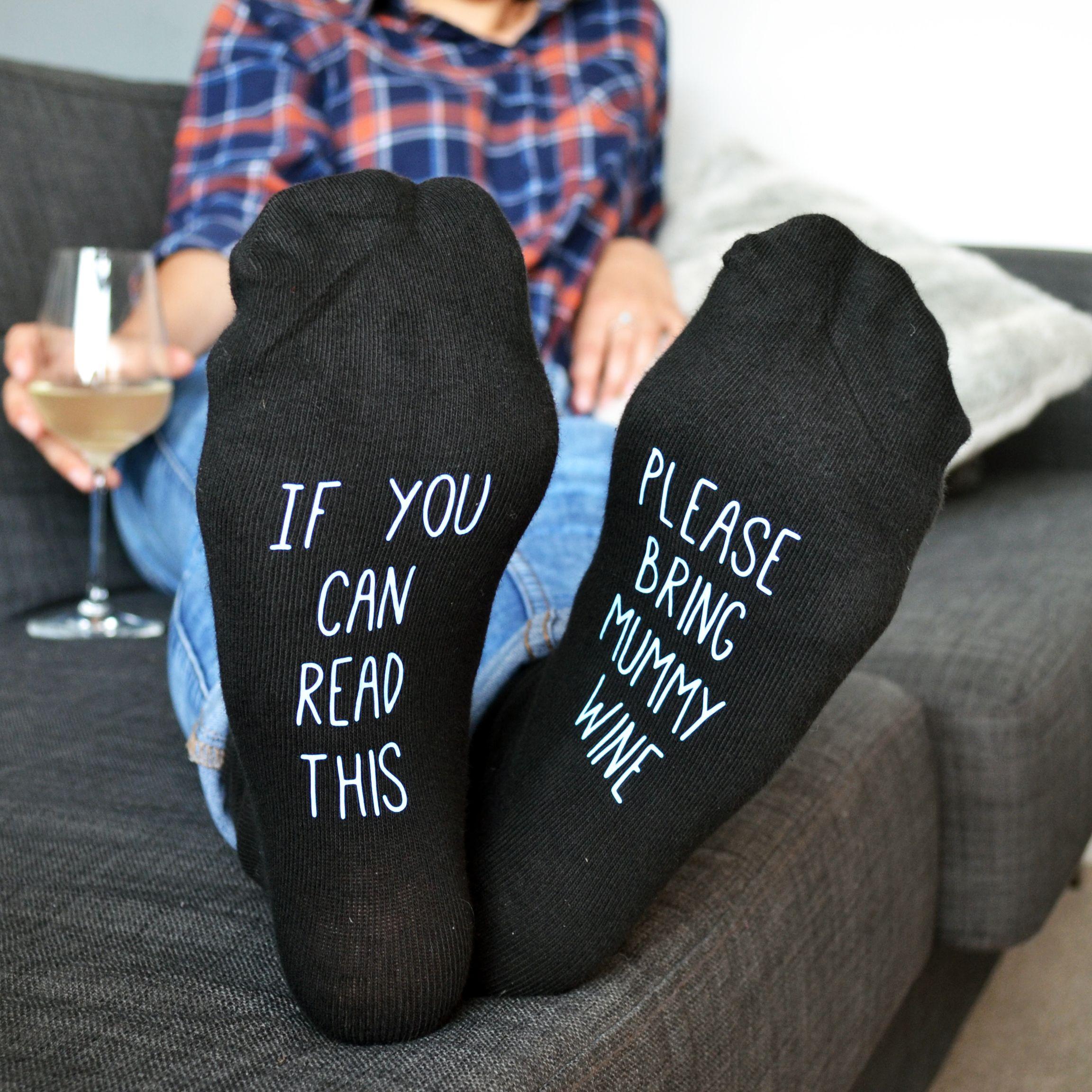 Hidden Message Please Bring Wine Personalised Socks Wine Meme