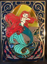 9c484ee844b81 Disney Pin Ariel Art Nouveau Fantasy Jumbo Le 75 Stained Glass ...