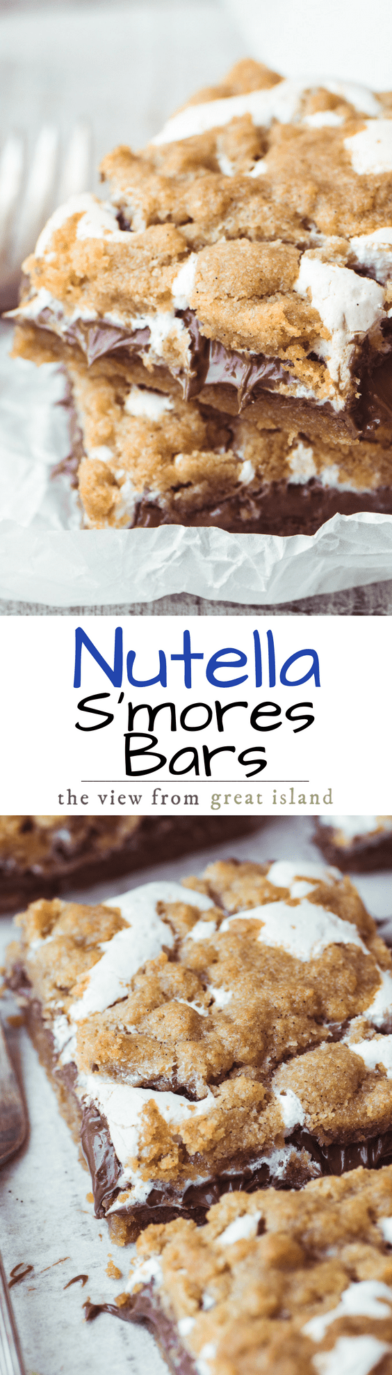 Nutella S'mores Bars ~ everybody's favorite summer treat in an ooey, gooey, decadent, and delicious