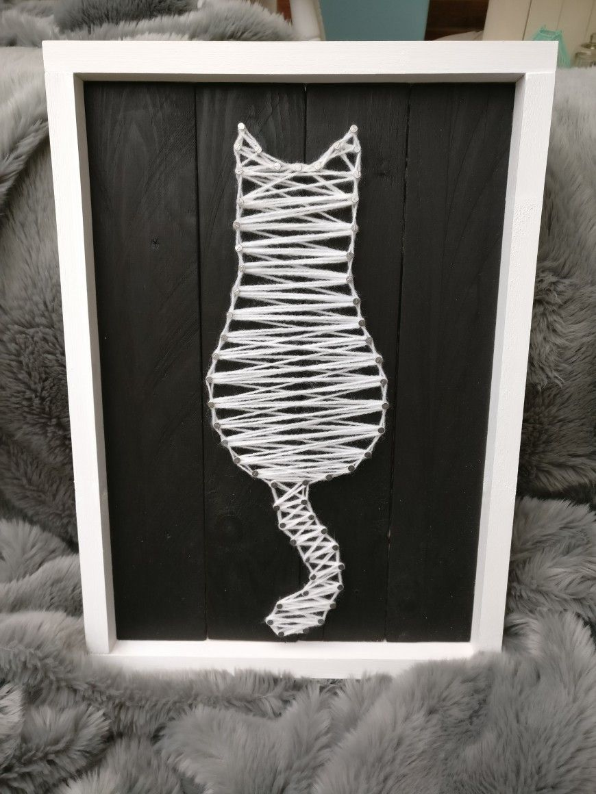 A Cat Nail+String Art. Made with pallets. | happily hippi ...