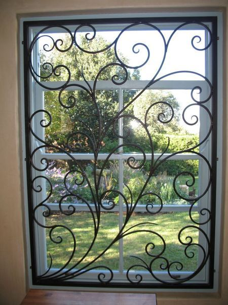 Beautiful Wrought Iron Burglar Guard To Compliment Your