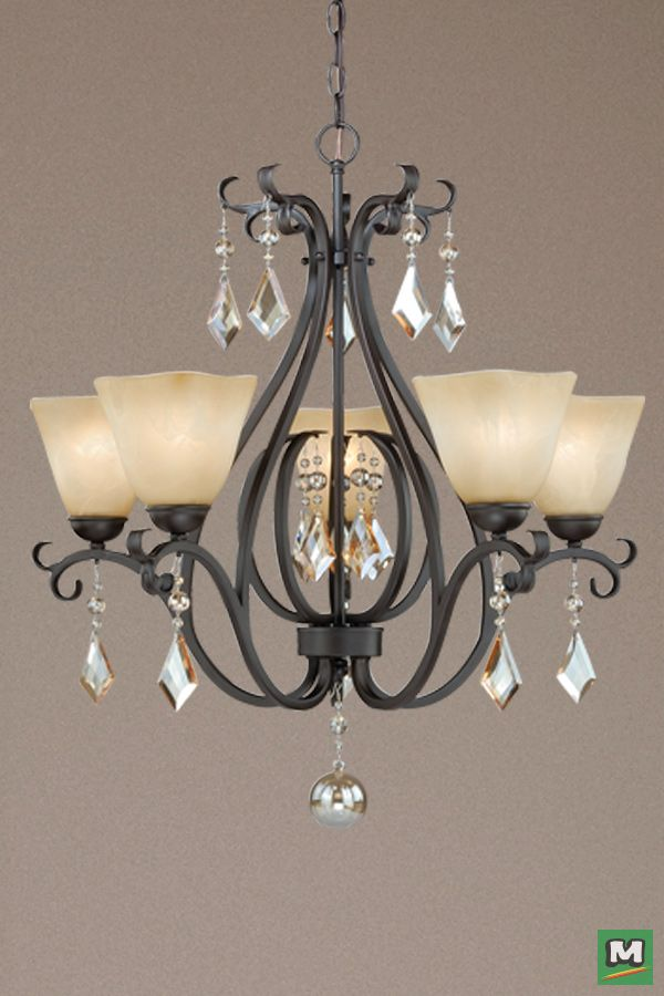 Patriot Lighting Rosalie Chandelier With New Bronze Finish And