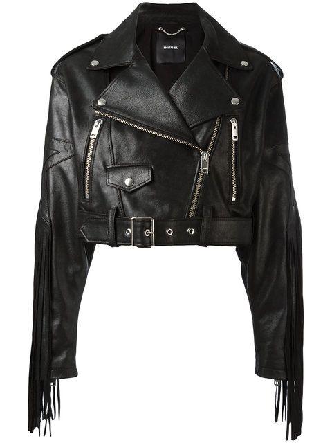 DIESEL 프린지 바이커 재킷. #diesel #cloth #재킷