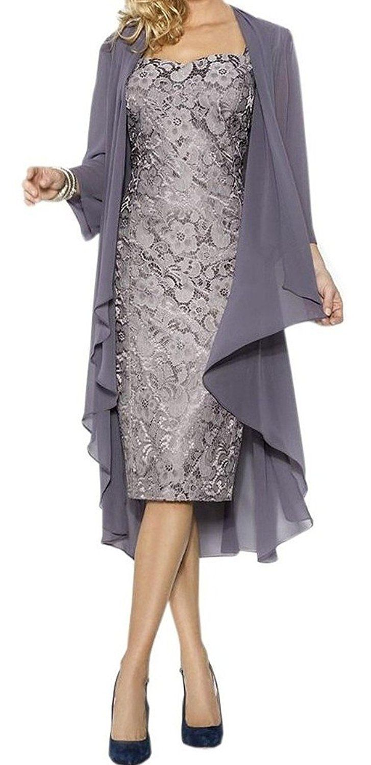 ad0b271714d Ruiyuhong Womens Short Lace Mother Of The Bride Dress With Jacket Formal  Gowns