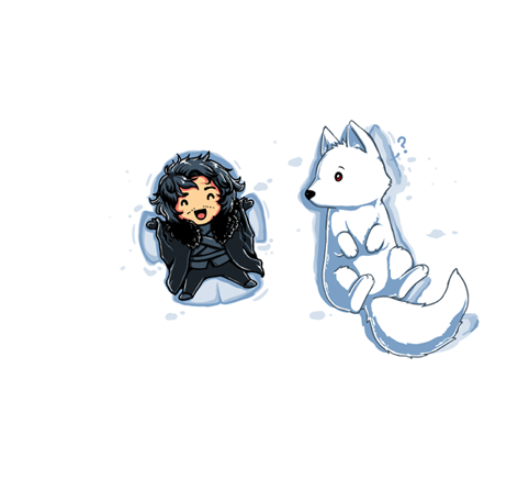 Snow Angel By Tee Turtle Jon Snow And Ghost Game Of Thrones