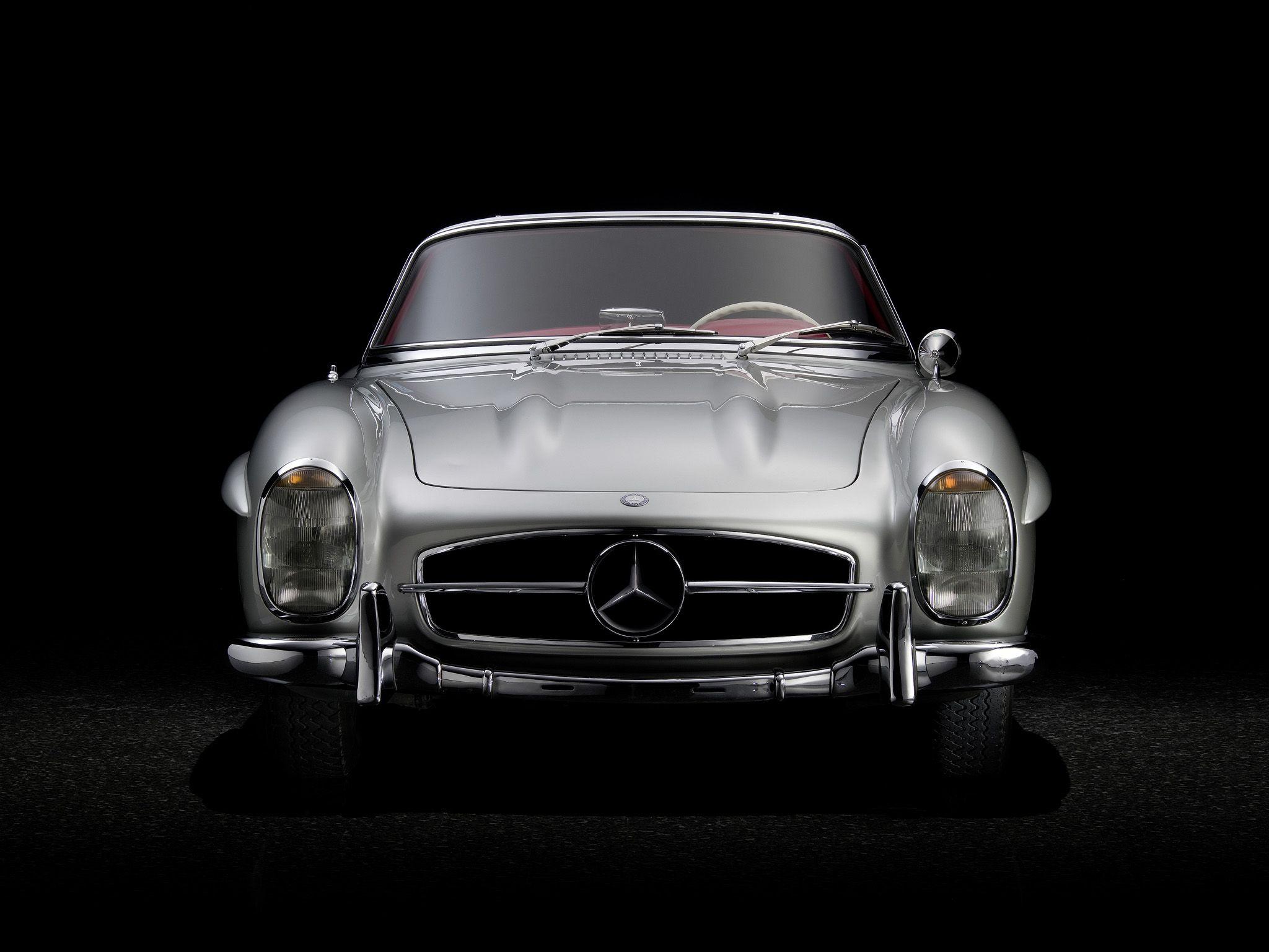 1957 Mercedes Benz 300sl R198 Retro Gf Wallpaper 2048x1536 105990 Wallpaperup Mercedes Benz Mercedes Mercedes Benz 300