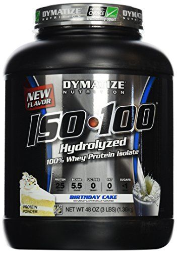 Dymatize Nutrition ISO100 PreWorkout Supplement Birthday Cake 3 Pound Packaging May Vary For More Information Visit Image Link