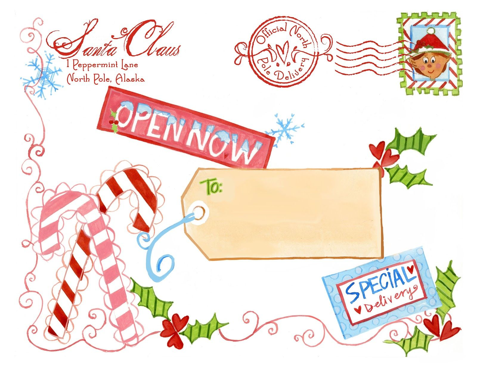 North Pole Special Delivery Printable {from Santa