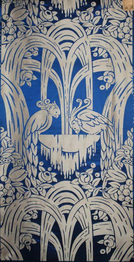 1925 art deco tissus perroquets et jets d 39 eau 1917. Black Bedroom Furniture Sets. Home Design Ideas