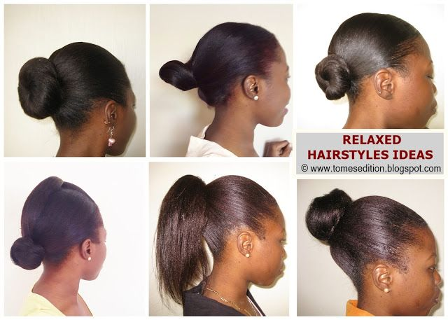 Favorite Ways To Style My Relaxed Hair Relaxed Hair Hair Styles Natural Hair Styles