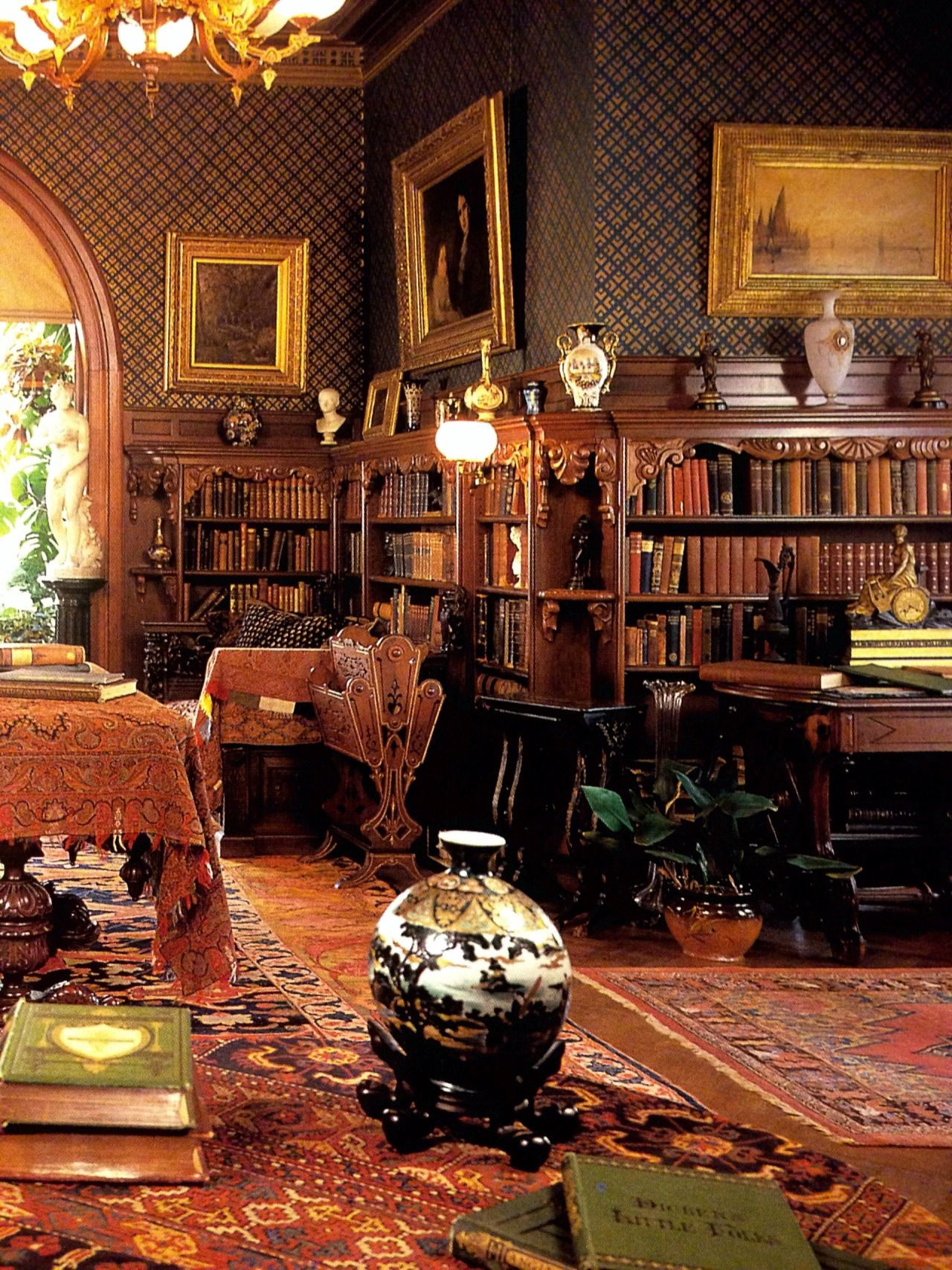 Mark Twain House Hartford Home Libraries Vintage