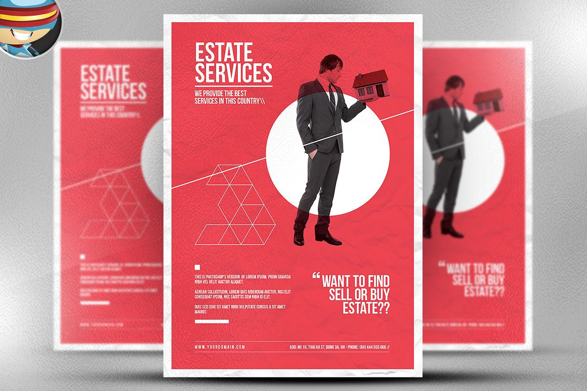 Minimal Real Estate Flyer Template By Flyerheroes On Creative
