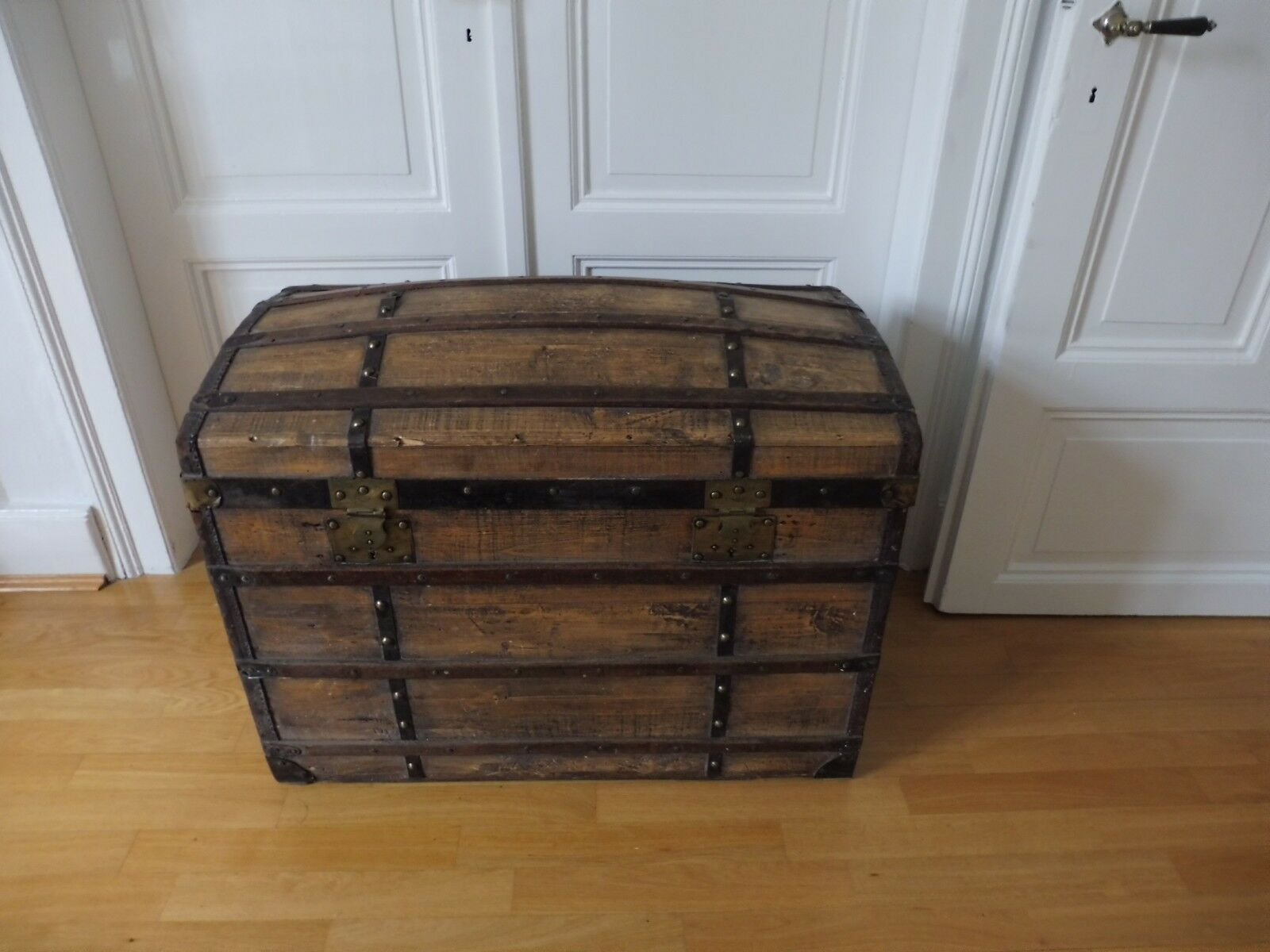 Alte Urige Holzkiste Schatzkiste Vintage 33x20 5x13cm Echtholz