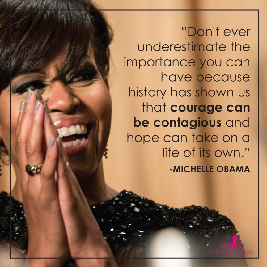Michelle obama quote by girls educational and mentoring
