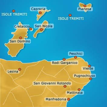garganoisoletremiti CARTES ITALIE Pinterest Italia Italy