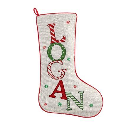 Festive Name Christmas Stocking (With images) | Christmas ...