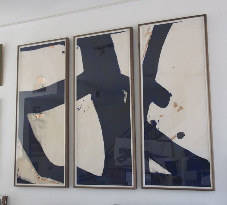 Malta Triptych Collection Malta Abstracts Fresh Zbc Vignettes Zoe Bios Creative Artists Minh Nguyen A Installation Art Wall Triptych Art Eclectic Art