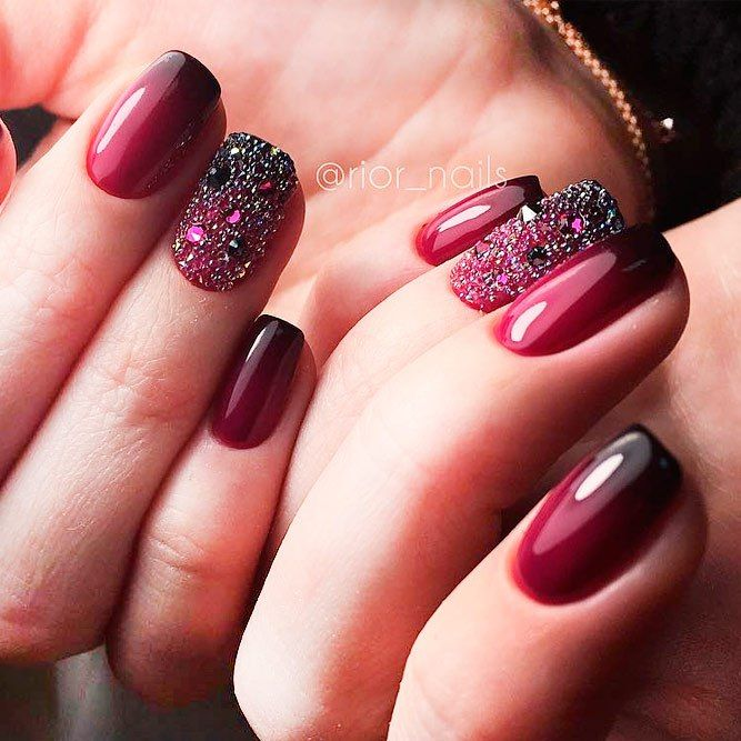 Burgundy nail varnish – Gel Polish Nail decoration 2018 - Burgundy Nail Varnish – Gel Polish Nail Decoration 2018 Nail Art