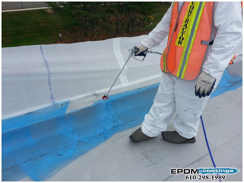 Coatings Liquid Epdm Rubber Roof Coatings For Roof Leaks Only Liquid Epdm In The World Flat Roof Repair Elastomeric Roof Coating Roof Coating