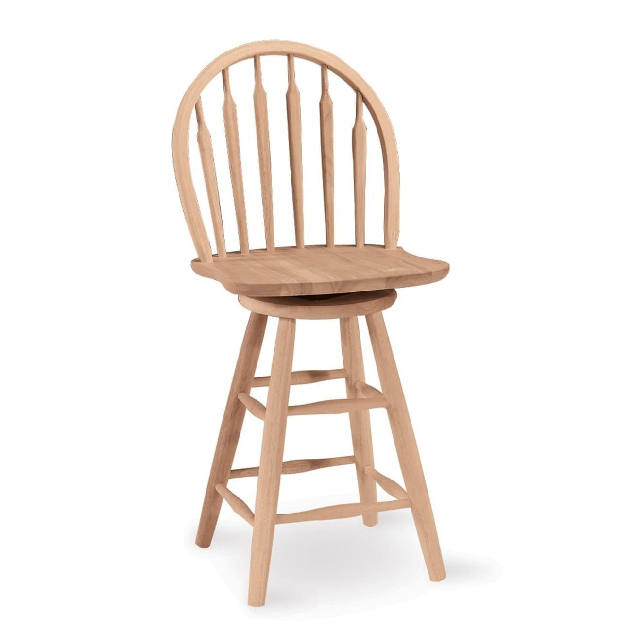 International Concepts Windsor Arrowback Unfinished Solid Wood ...
