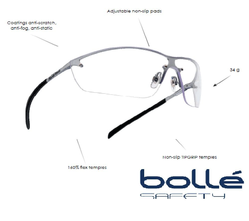 Bolle Silium Safety Shooting Glasses-Clear | Shooting Safety Glasses ...