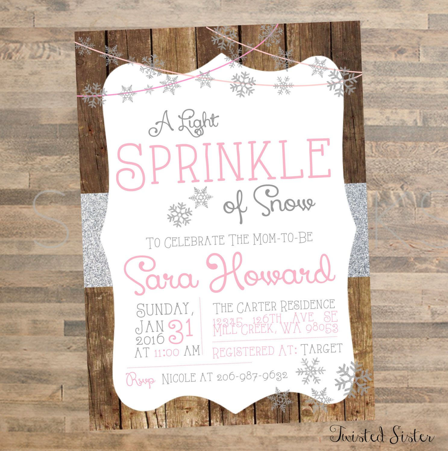 Oh Baby It\'s Cold Outside Baby Shower Invite, Winter Wonderland Baby ...