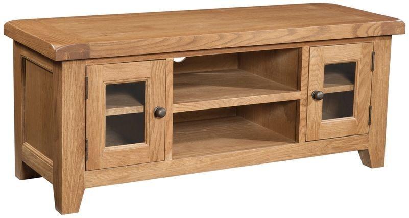 Devonshire Somerset Oak TV Unit - Large   TV unit, Living room wall ...