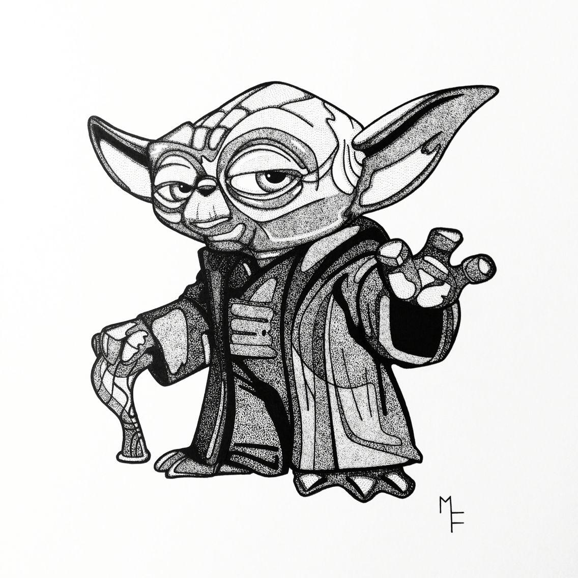 Master Yoda Handmade Illustration For Christmas Commission