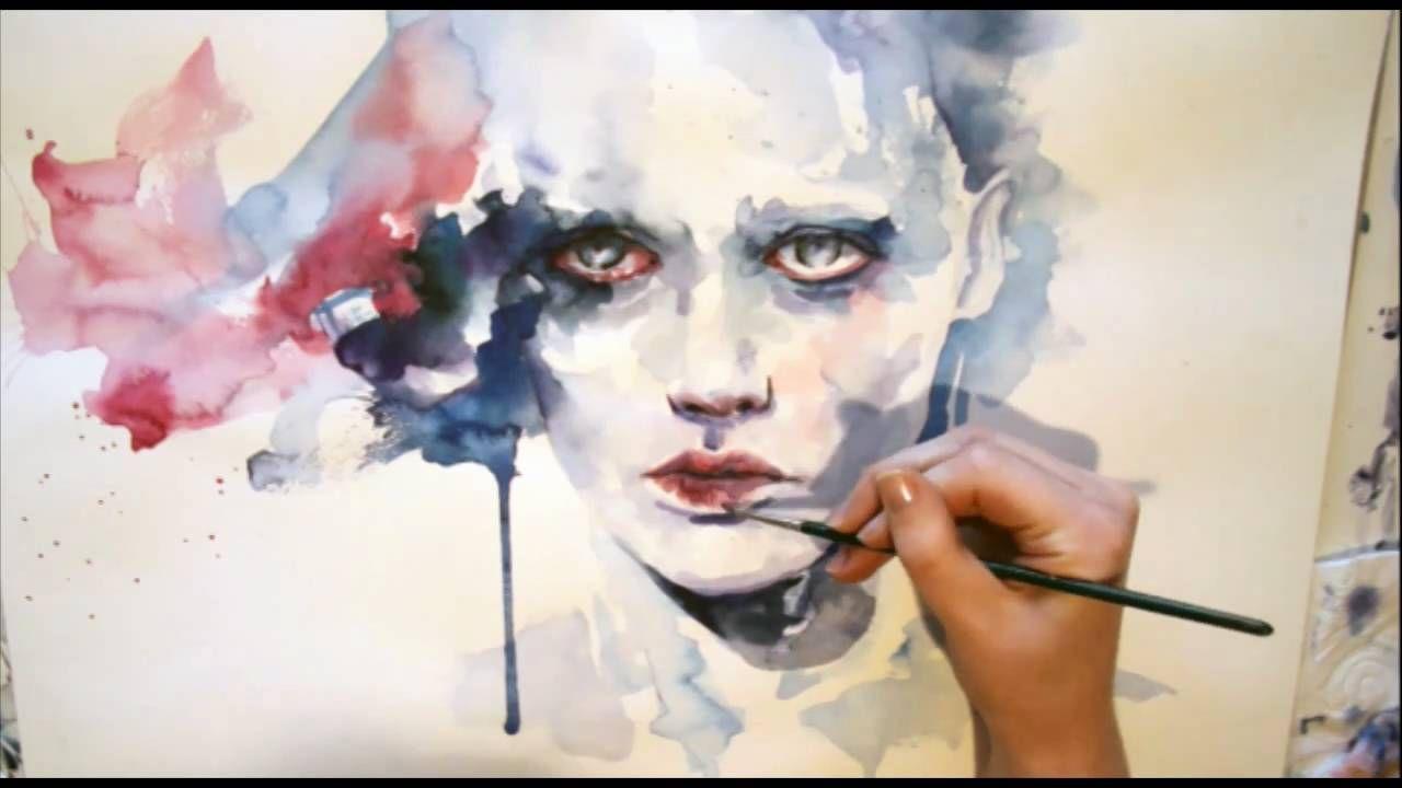 Portrait Watercolor Speed Painting Recettes à Cuisiner
