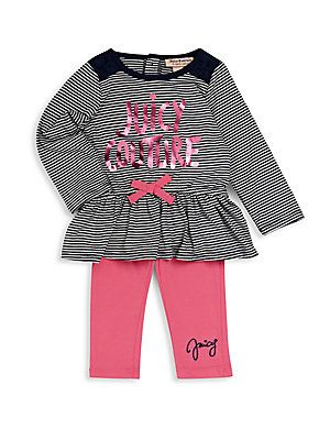 Juicy Couture Baby s Peplum Top   Solid Leggings Set - Black - Pin ... 7f1a178ce3
