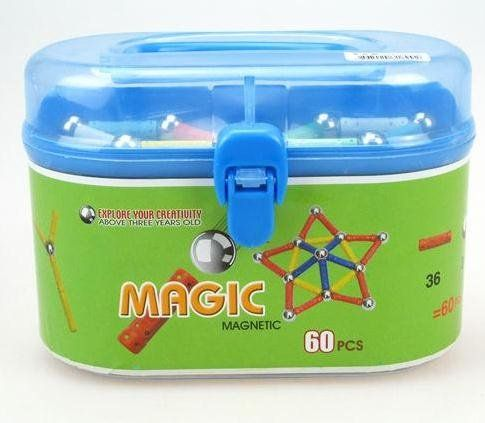 Wholesale   toys 60pcs a pack Geomag & Magnetic building  Kids Panels& Magnetic stick toy Magic plus 5set/lot  EMS-in Magic Cubes from Toys & Hobbies on Aliexpress.com