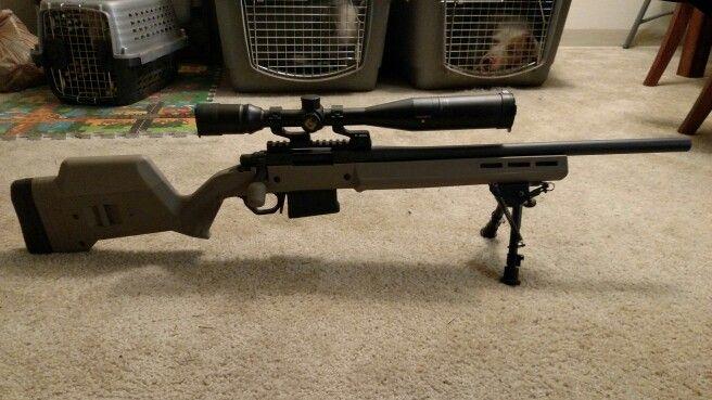Remington 700 SPS Tactical with Magpul Stock, Magpul magwell