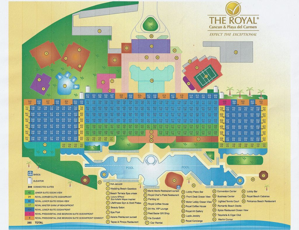 All sizes | The Royal in Cancun Map | Flickr - Photo Sharing ...