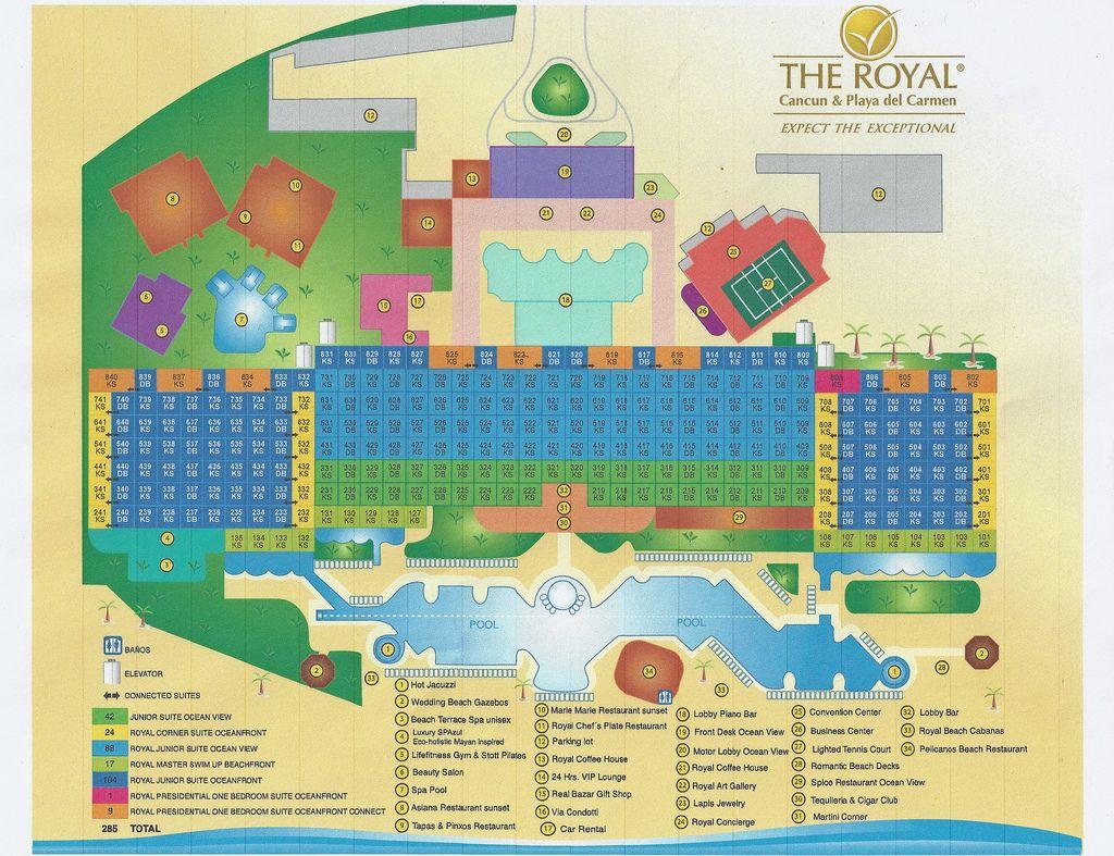 The royal in cancun map now hyatt zilara cancun
