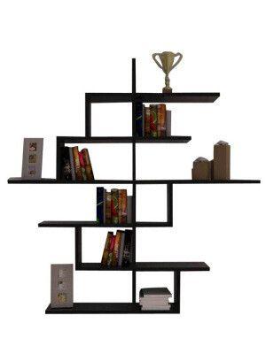 Etagere Cizgi No 4 Noire 150 X 150 X 20 Cm Shelves Modern Wall