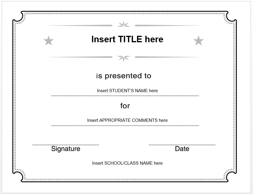 This is a photo of Superb Blank Award Certificates
