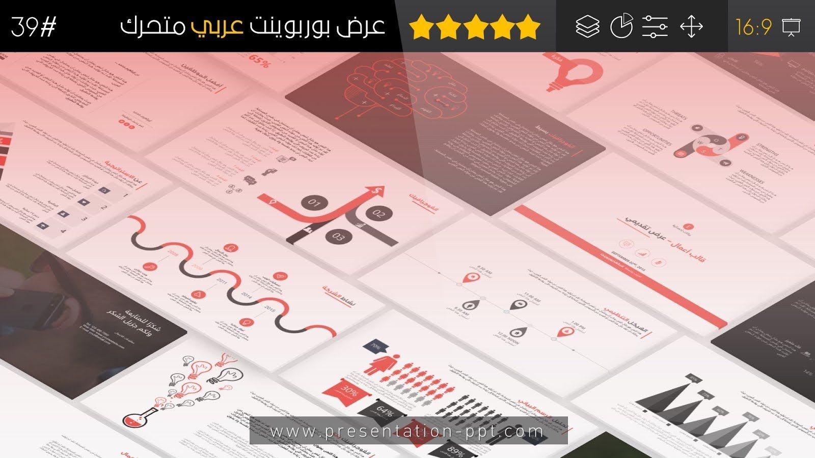 أعمال عرض بوربوينت عربي متحرك جاهز للتعديل 2018 Powerpoint Presentation Presentation Templates Powerpoint Presentation Templates