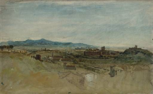 Joseph Mallord William Turner 'View of the Baths of Caracalla, from the Palatine Hill, Rome', 1819