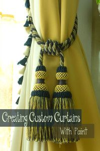 Painting curtains and window treatments- I want to paint panels for the baby's room!