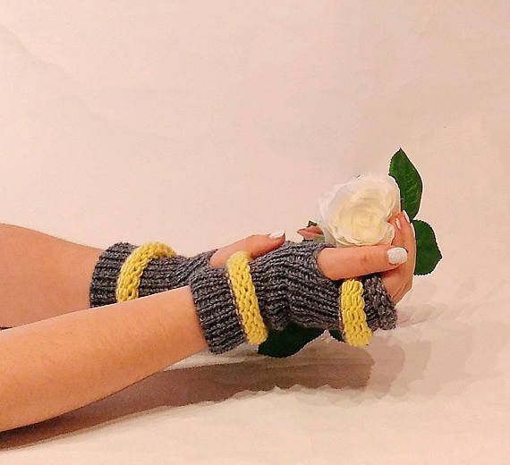 Amazing Christmas Gifts For Her: Christmas Gift, Fingerless Gloves, Arm Warmers, Woman
