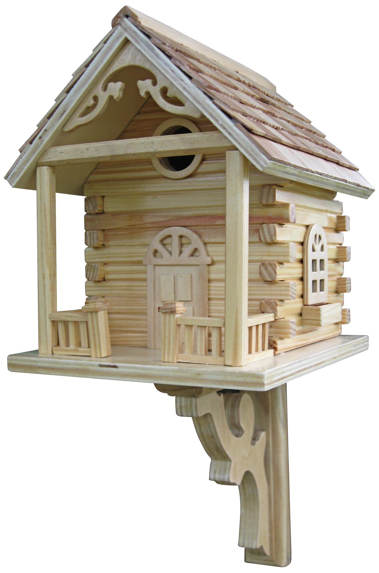 Log Cabin Bird House Glo Lampsplus Makesummerbright Bird