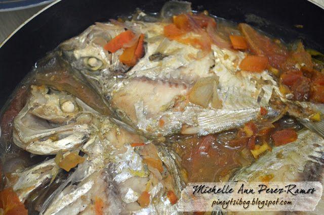 Pinoy Tsibog Pangat Na Sapsap Pony Fish Poached In Tomatoes