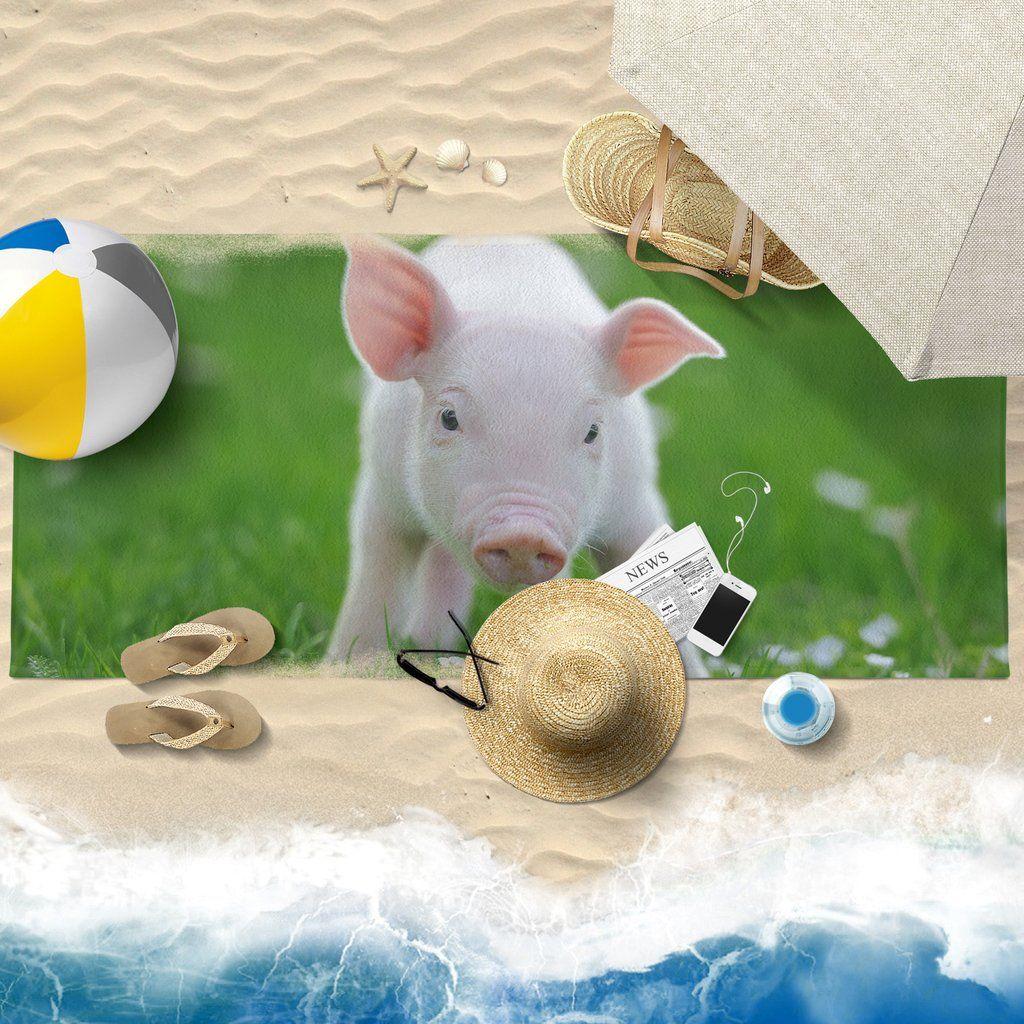Pig Printed Towel 09 Beach 30x60