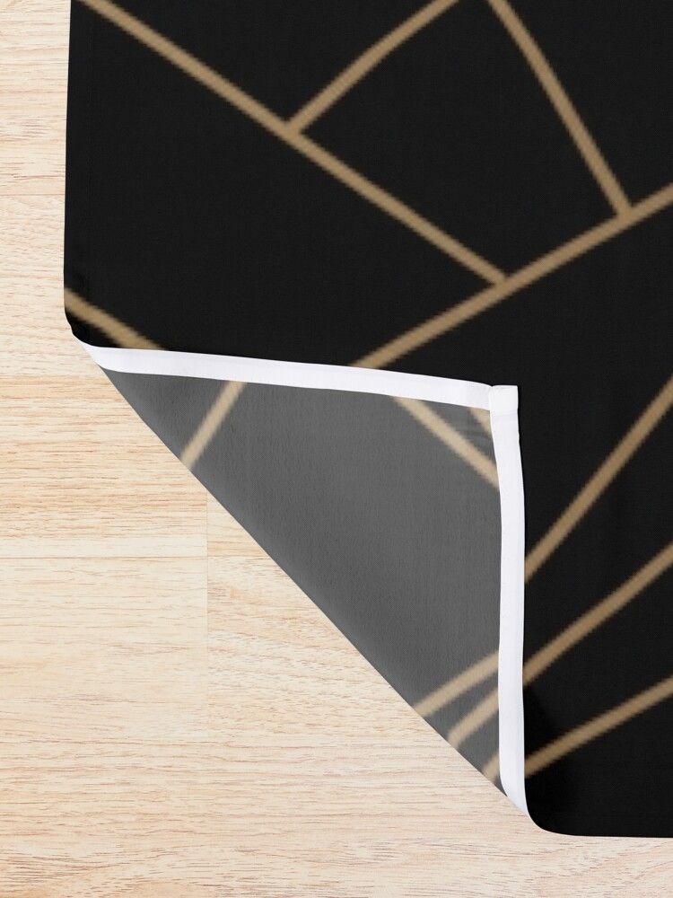 Elegant geometric copper black Shower Curtain by kleynard